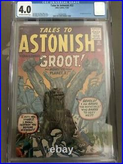 Tales to Astonish #13 CGC 4.0 First Appearance of Groot