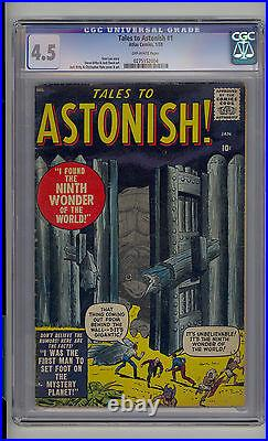 Tales to Astonish #1 CGC 4.5 VG+ Atlas Marvel 1st Issue Scarce OW Pages