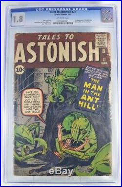 Tales to Astonish # 27 CGC 1.8 1st Appearance of Ant-man Kirby Ditko Stan Lee