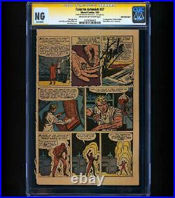 Tales to Astonish #27 CGC SS Stan Lee 2nd Page Only 1ST TIME ANT MAN SHRINKS