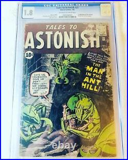 Tales to Astonish #27 (Jan 1962, Marvel) CGC 1.8 1st Appearance of Ant-Man