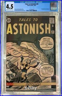 Tales to Astonish #36 (1962) CGC 4.5 - O/w to white pages 3rd Ant-Man Lee