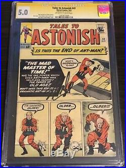 Tales to Astonish #43 CGC 5.0 SS STAN LEE Ant-Man Avengers Signed 05/1963 Silver