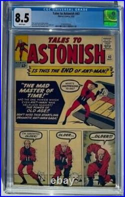 Tales to Astonish #43 CGC 8.5 White Pages Wasp Ant-man Marvel 1963
