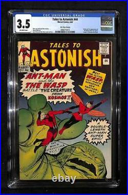 Tales to Astonish #44 CGC 3.5 Origin and 1st appearance of the Wasp