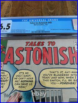 Tales to Astonish #45 CGC Graded 6.5 OW 2nd Wasp & Egghead