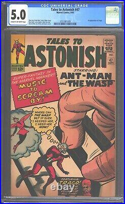 Tales to Astonish #47 CGC 5.0 (1963) Ant-Man & Wasp 1st appearance of Trago