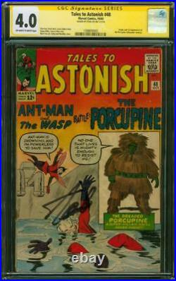 Tales to Astonish 48 CGC SS 4.0 Stan Lee Ant Man 1st Porcupine Kirby Ditko 63