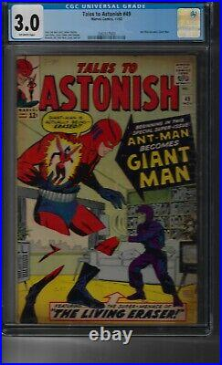 Tales to Astonish #49 CGC 3.0 1963 OW pgs Ant-Man becomes Giant Man for 1st time