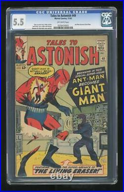 Tales to Astonish #49 CGC 5.5 1963 0256430003 Ant-Man becomes Giant Man