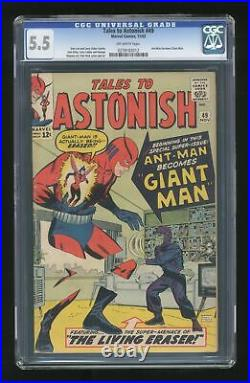Tales to Astonish #49 CGC 5.5 1963 0278183012 Ant-Man becomes Giant Man