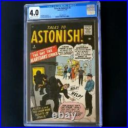 Tales to Astonish #4 (Atlas 1959) CGC 4.0 OW-W Jack Kirby Cover! Comic