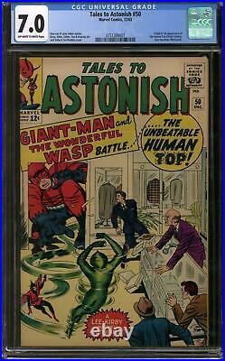 Tales to Astonish #50 CGC 7.0 (OW-W) 1st Human Top