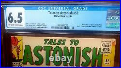 Tales to Astonish #52 CGC 6.5 OW-White Pages 1st Black Knight Appearance 1964