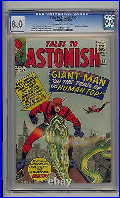 Tales to Astonish #55 CGC 8.0 VF Unrestored Marvel Ant Man Wasp Human Top OWithW