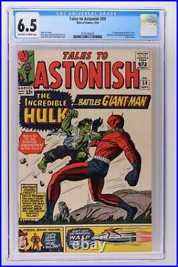 Tales to Astonish #59 Marvel 1964 CGC 6.5 1st Appearance of Hulk in title
