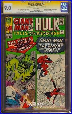 Tales to Astonish #62 CGC 9.0 SS Signed Stan Lee & Dick Ayers! 1st app of Leader