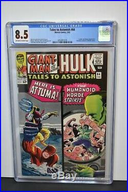 Tales to Astonish #64 (1965) CGC Graded 8.5 Stan Lee Story Jack Kirby Cover