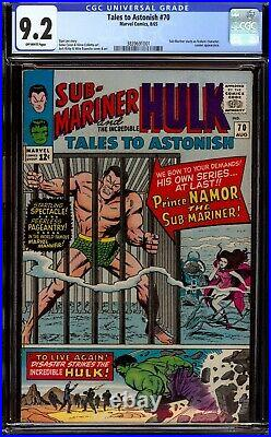 Tales to Astonish #70. CGC 9.2 NM. Begins Sub-Mariner as feature character