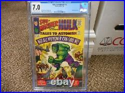 Tales to Astonish 75 cgc 7.0 Marvel 1966 CLASSIC Incredible Hulk Kirby cover oww