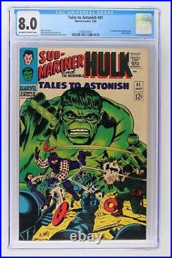Tales to Astonish #81 Marvel 1966 CGC 8.0 1st Appearance of Boomerang Fred My