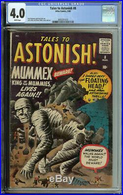 Tales to Astonish # 8 CGC 4.0 WP Kirby & Ditko, Cover & art