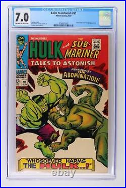 Tales to Astonish #91 Marvel 1967 CGC 7.0 Abomination and Stranger Appearance
