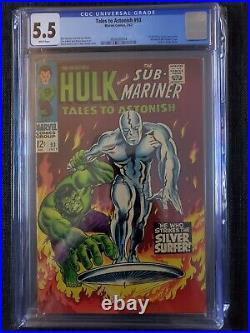 Tales to Astonish #93 CGC 5.5 1st Full Appear outside FF & Hulk VS Silver Surfer