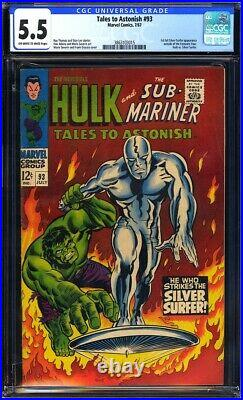 Tales to Astonish #93 CGC 5.5 1st full app. Of Silver Surfer outside of FF! L@@K