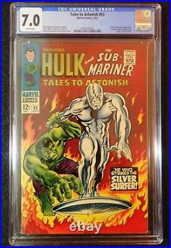 Tales to Astonish #93 CGC 7.0 RARE WHITE PAGES 1st Silver Surfer! 1967