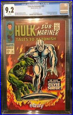 Tales to Astonish #93 CGC 9.2 with WHITE PAGES! Silver Surfer Hulk Vivid colors