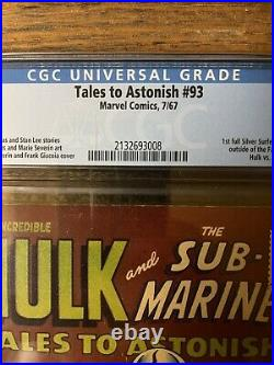 Tales to Astonish #93 Marvel 1967 CGC 5.0 VG/F 1st Silver Surfer Outside FF