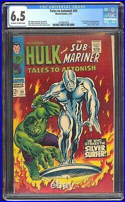 Tales to Astonish #93 Marvel 1967 CGC 6.5 FN+ 1st Silver Surfer XOver Outside FF