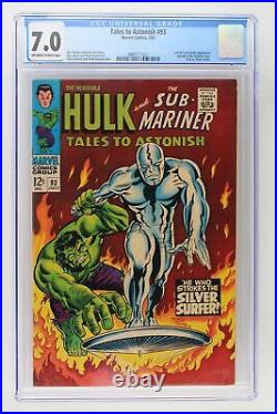 Tales to Astonish #93 Marvel 1967 CGC 7.0 1st full Silver Surfer Appearance