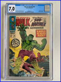 Tales to Astonish #95 CGC 7.0 White Pages! Incredible Hulk/Sub-Mariner