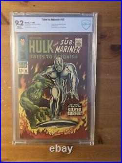 Tales to astonish 93 Marvel, 1967 CBCS 9.2, Silver Surfer Hulk Not CGC or PGX