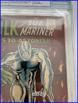 Tales to astonish #93 Silver Surfer Vs Hulk Classic Cover Halo 3.5 VG- CGC